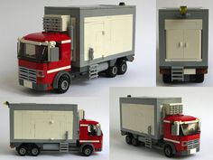 On the outside it looks like a standard City truck, modified into a refrigerated food delivery truck. Built for the Eurobricks action themes Secret Agents Building Drive. Lego Tractor, Lego Truck, Lego Hospital, City Layout, Lego Ship, Lego Military, Lego Construction, Cool Lego Creations, Custom Lego