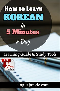 Is it POSSIBLE? Can you learn Korean in 5 minutes? Yes, you can learn a little at a time. Apps. Audio Lessons. Video Lessons. Slideshows. Check out these resources that will help you learn a little a day.