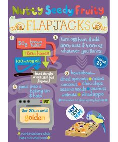 flapjack recipe for children by claire murray