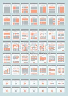 Website sitemaps flat icons set Royalty Free Stock Vector Art Illustration