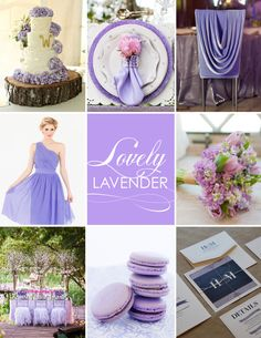 Lovely lavender wedding inspiration. #wedding #lavender #macaron #invite #decor #table #chairtreatment #bridesmaid #bouquet #placesetting #cake