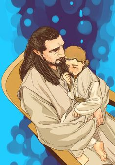 Qui-gon and little Obi-wan