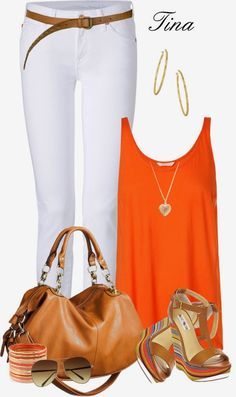 Fashion Is Your Inspiration: Casual Outfits | Orange