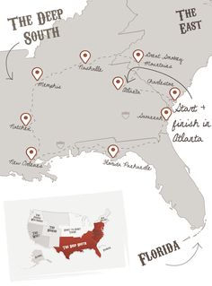 Ultimate Deep South | The American Road Trip Company- I'm having fun with this website!