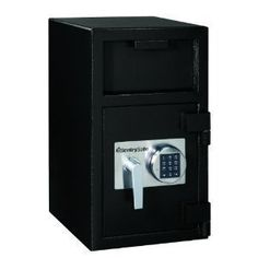 # Dh-109E # Dh-109E MPN: Dh-109E SentrySafe DH-109E Solid Steel Depository Safe, Black ... by Sentry. $599.99. Reduce your chance of being robbed by making frequent deposits in your drop safe container. Designed with a host of security features including hardened steel construction, programmable electronic locks, antifish hoppers and antipry doors. Outer Width: 14 in; Outer Depth: 16 in; Outer Height: 24 in; Capacity (text): 1.3 ft3.