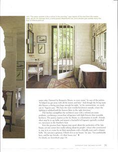 Oversized door and nickel-plated tub