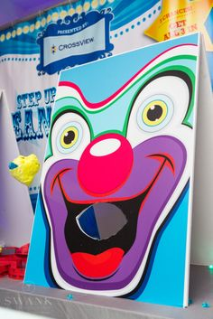 Planned, Designed & Produced by www.swankproductions.com #carnival #decor #corporate #event #entertainment #hole #in #one #clown #bean #bag #toss