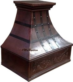 Custom made to order kitchen copper range hood. #mycustommade #rangehood #venthood