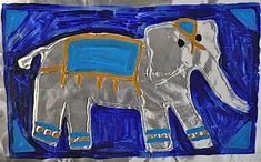 This simple, yet stunning elephant craft is easy to make with products you already have at home. THe bold colors and shiny aluminum make it a keeper!