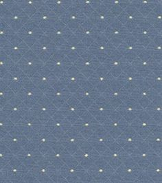 Home Decor Upholstery Fabrics-Waverly Mary Jane Indigo Fabric