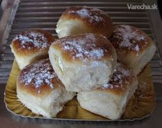 Tvarohové buchty (fotorecept) - Recept Biscuit Cookies, Hamburger, Biscuits, Muffins, Food And Drink, Bread, Dishes, Baking, Sweet