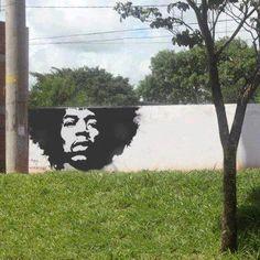 Street Art Jimi Hendrix