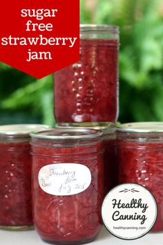 Sugar Free Jam with Stevia Jam Recipes, Canning Recipes, Low Carb Recipes, Recipies, How To Make Jam, Food To Make, Blackberry Jam No Pectin, Low Sugar Strawberry Jam Recipe, Sugar Free Jam
