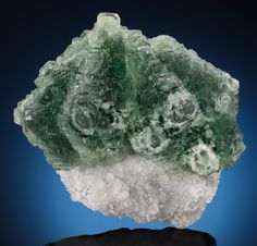 GREEN FLUORITE on QUARTZ . Piaotang Mine, Xihuashan Ore Field, Dayu | Lot #73023 | Heritage Auctions