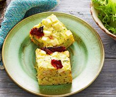Zucchini and feta slice, zucchini recipe, brought to you by Woman's Day Vegetable Pie, Vegetable Recipes, Rhubarb Pudding Cake, Brunch Recipes, Breakfast Recipes, Savoury Slice, Baked Macaroni Cheese, Australian Food, Australian Recipes