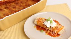 Chicken Enchiladas Casserole - Laura Vitale - Laura in the Kitchen Episo...