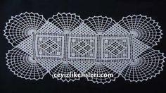 Zincir İşi Dantel Modeli : Hand Embroidery Lace Patterns