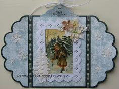 Trijntjes Kaarten: Kerstkaart week 44 3d Cards, Vintage World Maps, Christmas Cards, Lights, Studio, Nye, Card Ideas, Essentials, Outdoors