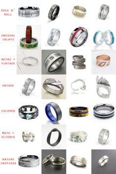 28 Unique Wedding Rings for Men   Little Vegas Wedding