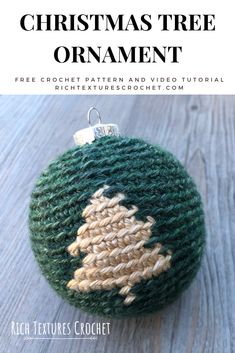 A free crochet pattern of a Christmas Tree Bauble. Do you also want to crochet this Bauble? Read more about the Free Crochet Pattern Christmas Tree Bauble. Christmas Tree Baubles, Crochet Christmas Ornaments, Holiday Crochet, Christmas Crafts, Merry Christmas, Crochet Designs, Crochet Patterns, Learn To Crochet, Crochet Projects
