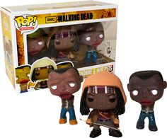 The Walking Dead - Michonne and Pets Mud Spatters Pop! Vinyl Figures (3-pack) by Funko