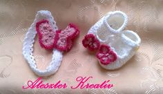 crocheted baby hair bands | Crochet Baby Booties and headband made in pink ... | baby shower ideas