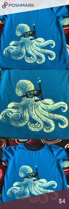 Boy toddler shirt Blue octopus shirt Carter's Shirts & Tops Tees - Short Sleeve