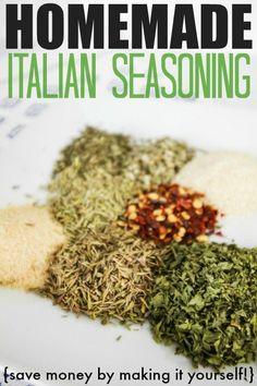 DIY Homemade Italian Seasoning recipe! Great for Italian food or even for making Italian dressing!