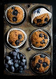 sweetened and filled with fiber, these Blueberry Bran Breakfast Muffins will fuel you through lunchtime.Naturally sweetened and filled with fiber, these Blueberry Bran Breakfast Muffins will fuel you through lunchtime. Blueberry Bran Muffins, Blue Berry Muffins, Blueberry Breakfast, Cupcakes, Bon Appetit, Broma Bakery, Breakfast Muffins, Mini Muffins, Breakfast Ideas