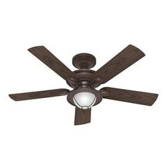 Hunter 52-in Maribel New Bronze Ceiling Fan with Light Kit...this one's okay, can't see if it comes in other finishes. I'm not loving this finish, but like the light