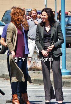 "Rebecca MAder and Lana Parilla - Behind the scenes - 5 * 1 ""Dark Swan"" 17 July 2015"