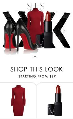 """""""Untitled #90"""" by arzayleaa ❤ liked on Polyvore featuring Rika, Rumour London, NARS Cosmetics, Christian Louboutin, women's clothing, women's fashion, women, female, woman and misses"""