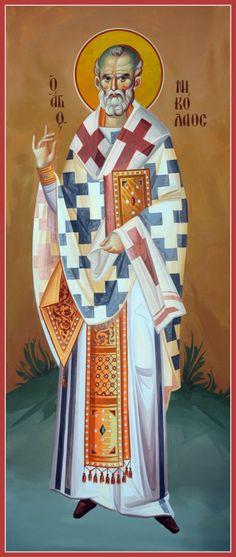 Άγιος Νικόλαος / Saint Nicholas Byzantine Icons, Byzantine Art, Religious Icons, Religious Art, Writing Icon, Famous Freemasons, Married With Children, Saint Nicholas, Orthodox Icons