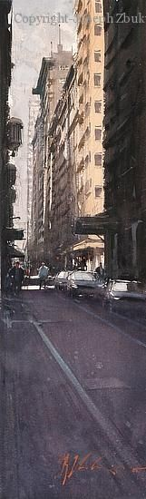 Afternoon Shade, Melbourne - Watercolor by Joseph Zbukvic