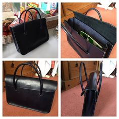 Some first-time students are just naturals! This elegant briefcase was designed cut and (not entirely) hand-stitched in a single weekend course. I love the skinny proportions of the turned handles. I think it will have a long life.... #leathercraft #courseslondon #handbag #design #designdevelopment #weekendcourse