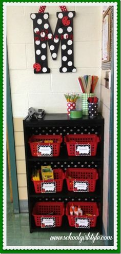Classroom decor and accessories  Ladybug inspired classroom decorating www.schoolgirlstyle.com