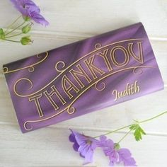 Say thank you in the best way with the Personalised Thank You Chocolate Bar! Their name is printed on the wrapper so everyone knows who this chocolate is for! #Chocolate #ThankYouGifts #PersonalisedGifts  £5.99