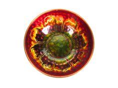 Vintage Copper Enamel Bowl, Mid Century Modern Small Hammered Enamel Bowl by HerVintageCrush on Etsy