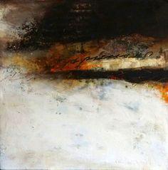 """Scritto"" Oil/Mixed Media 12x12 Lisa B. Boardwine"