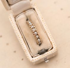 Vintage 14K Gold Pearl Eternity Band