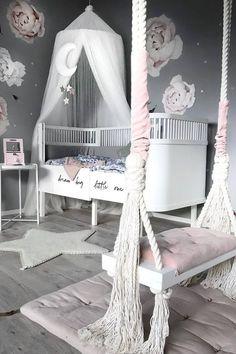 11 Cute Nursery Baby Room Ideas for Baby Girl Girls Bedroom Decor Cute Bedroom Ideas, Cute Room Decor, Baby Room Decor, Nursery Room, Bedroom Decor, Room Baby, Playroom Decor, Girl Nursery, Nursery Ideas