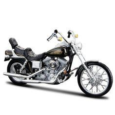Miniatura Moto Harley-Davidson 1997 FXDWG Dyna Wide Glide Maisto 1:18 - Machine Cult | A loja das camisetas de carro e moto