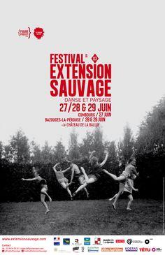 Affiche du festival Extension Sauvage édition 3 28 et 29 juin 2014
