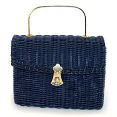 '60s Navy Wicker Handbag, $108, now featured on Fab.