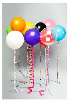decorate balloons strings