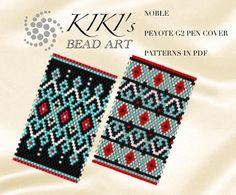 Pattern peyote pen cover Noble 1-2 peyote pattern for pen
