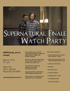 #Supernatural Season 10 Finale Watch Party! #RoyalOak #MetroDetroit #SPNFamily (correct zip code)