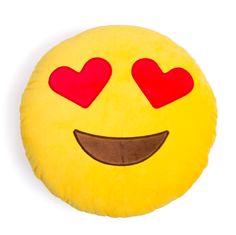 Heart Eyes Emoji Pillow