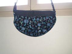 Sac Cancan à fleurs bleues cousu par Noémie - Patron Sacôtin