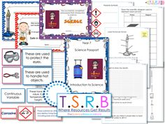This includes:    *Booklet to print at A5 size for students to  work through as part of the induction program.   -Lab Hazards/Rules  -Hazard Symbols  -Hazard Meanings  -Safe in Science Certificate  -Naming Lab Equipment ...
